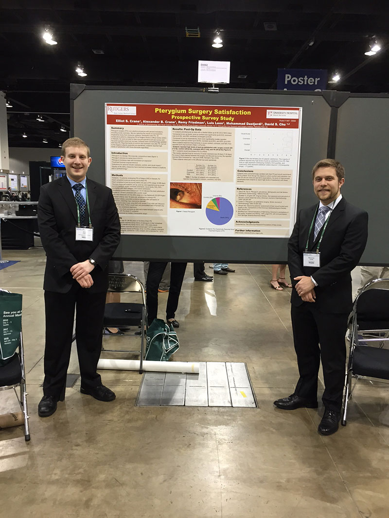 Elliot Crane & Alex Crane (Dr. & Mrs. Crane's sons) presenting a poster at ARVO.  Congratulations to them!