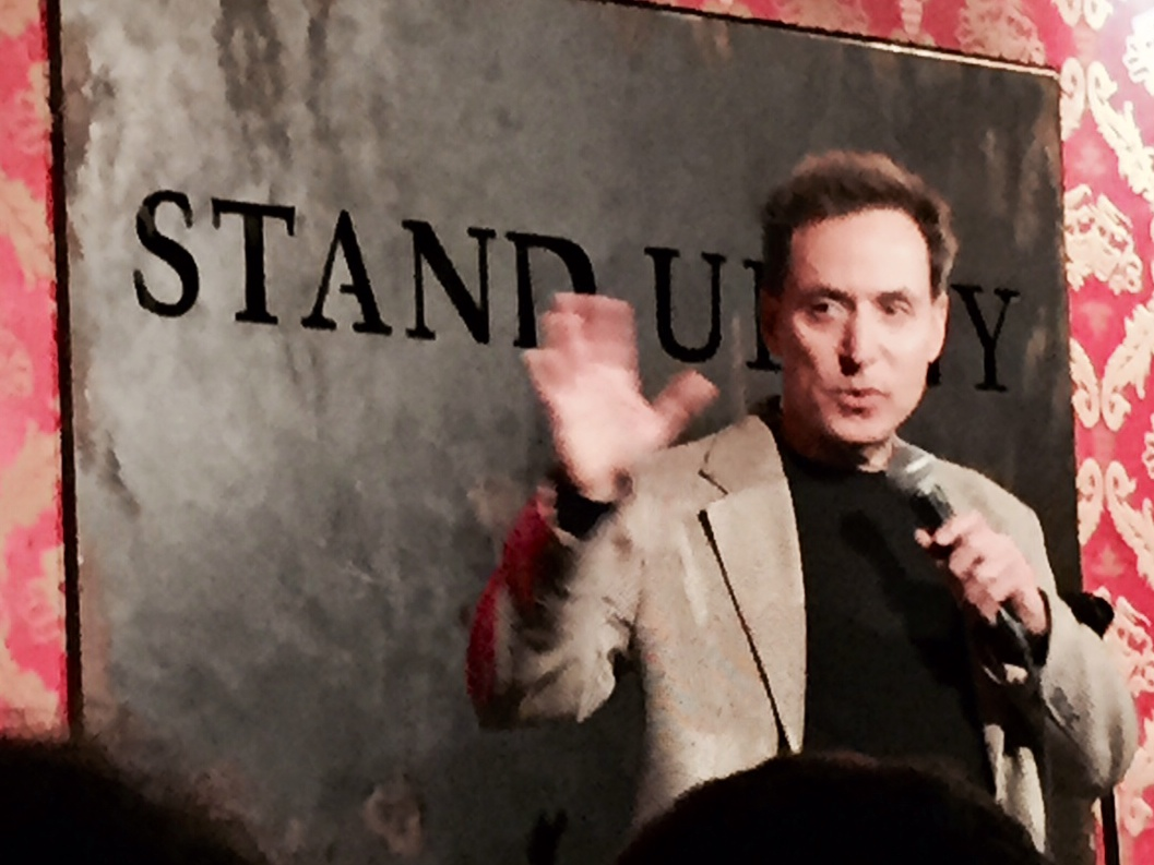 Dr. Spier at the Comedy Cellar, NYC